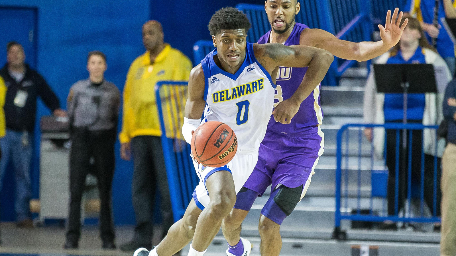 newest a08e3 49cf9 Allen, Carter Lead Blue Hens To 76-69 Home Win Over James ...